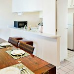 Dining and Kitchen of a Two Bedroom Unit at the Indian Palms Vacation Club