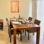 Dining Area of a Two Bedroom Condo Unit at the Indian Palms Vacation Club
