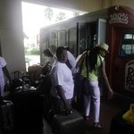Boarding Shuttle to Port of Miami