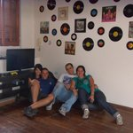 En el playroom del hostel