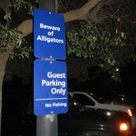 Sign in parking lot