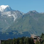 Mont Blanc (sideways view from balcony - mountain-facing room)