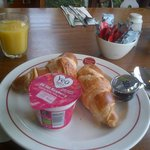 Continental breakfast- croissants, yogurt etc