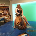 The interactive bucking bronco ride