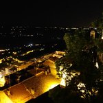 Night view of Hotel La Rocca in San Marino