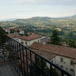 View of Hotel La Rocca in San Marino