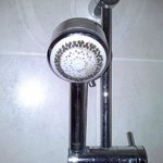 Limescale on shower head