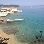 Corfu town which is a nice cheap bus ride away