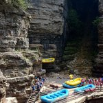 rafting and tubing launch in chasm