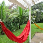 Hammocks on private room patio w/great seating