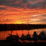 A room with a view - sunrise over Kinsale