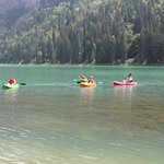 kayaking high in the alps
