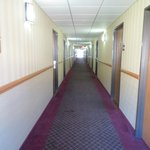 The long hallway looking from elevators to room 324