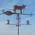 Weather vane with donkey