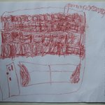 Buckingham Place - By a young architectural artist, visiting Begelly Arm's