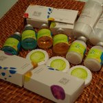 Toiletries that were provided