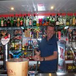 ian behind great  bar