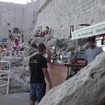 Buza Bar Old Town. On cliff .  GO THERE!