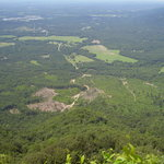 Overlooking Chatsworth GA and Ft Mountain State Park 2 miles from cabin