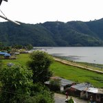 Phewa lake from balcony