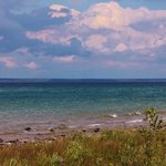 View of Lake Huron from the campground