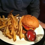 Cheeseburger- the fries are delicious!