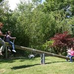 Large seesaw on the playground