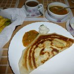 Breakfast dosa - yummy!
