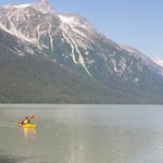 Paddling on Chilkoot Lake