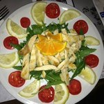 Rucola and chicken salad