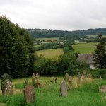 View over churchyard at Grosmont