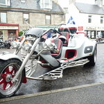 Harleys come to Grantown on Spey once a Year...