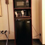 Microwave, Coffee pot and Mini-refrigerator