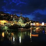 Brixham harbour and the Golden Hind
