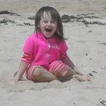 Granddaughter on beach