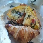 Delicious homemade quiche and pastries