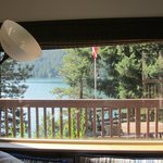View of the lake from the bed