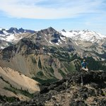View of Goat Rocks from the top of Bear Creek Mt