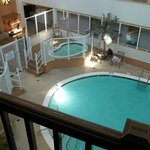 The interior pool and two hot spas available for your use