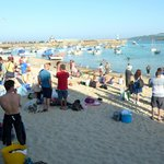 Beach at St Ives, there were swim race at that moment