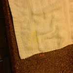 Yellow stained washcloth