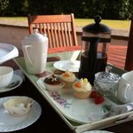 Tea, coffe and cakes on the Terrace