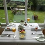 Lovely breakfast room overlooking the garden.