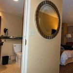Handicapped accessible room - useless mirror