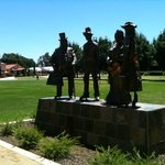 Adjacent to the Sovereign Dad, Dave. Mum & Mable. Gundagai Tourist information centre