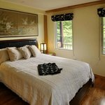 Garden view room has queen size firm mattress with 4 &q