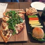 Flat bread and hummus