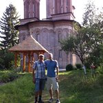 Gabriel and I at Snagov Monastery. Great guy!
