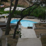Pool area at Rhenia Hotel & Bungalows
