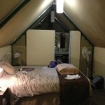 Inside the cabin/tent